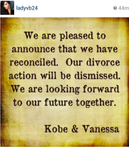 Kobe and Vanessa Bryant Back Together
