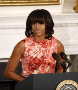 Michelle Obama Goes Floral