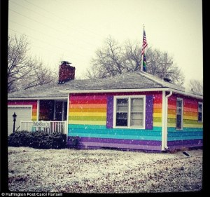 Gay Man Paints House in Rainbow Colors