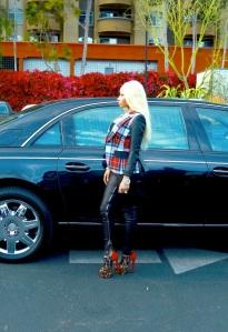 Nicki Minaj in Leather