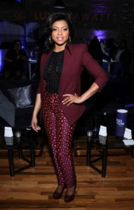 Taraji P Henson Looks Yummy in Pink and Leopard