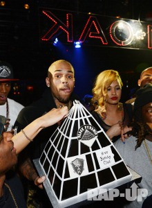 Chris Brown Parties in Vegas